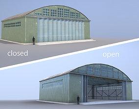 3D model Airport Hangar SmallHangar 01 closed open