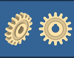3D print model 16-Tooth Spur Gear