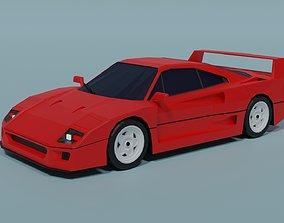 3D asset Ferrari F40 classic