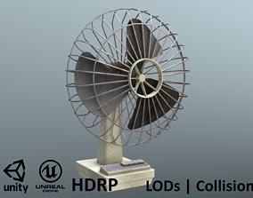 3D asset Retro Old Fan - Unity - HDRP - UE4