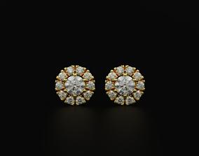 Small size diamond earrings for 3D printable model 1