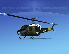 Bell UH-1B Iroquois V13 US Marines 3D model