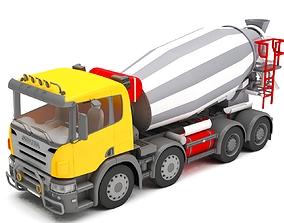 3D model Concrete mixer semi-trailer