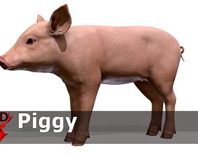 Piggy 3D model animated
