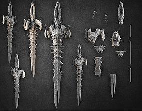3D printable model demonic sword