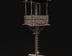 Next Gen AAA Fantasy Wooden Watchtower 3D asset