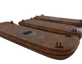 3D asset Barges Set