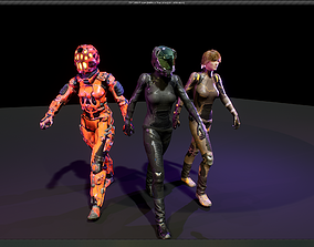 SciFi Unit Female 3D