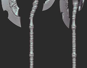 Darksider Skeleton Axe 3D print model