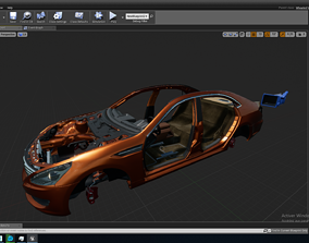 Highly Detailed Rigged 3D Car Parts animated