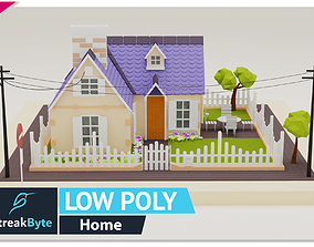 3D asset Low Poly Awesome Home