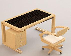3D desktop with armchair