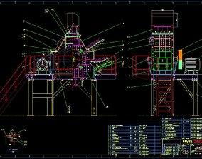 TK-15 TERTIARY IMPACT CRUSHER 3D model