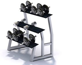 3D Weight Set With Stand