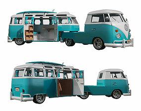 3D Volkswagen T1 Camper