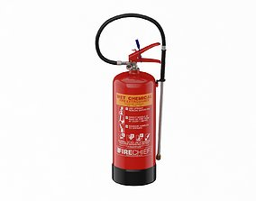 3D model Wet Chemical Fire Extinguisher