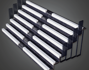 3D model School Gym Bleachers - HSG - PBR Game Ready