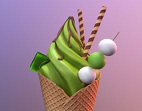 Matcha Ice-cream 3D model