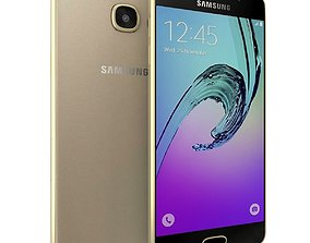 3D model Samsung Galaxy A3 2016 Gold