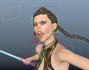 3D rigged jedi knight girl