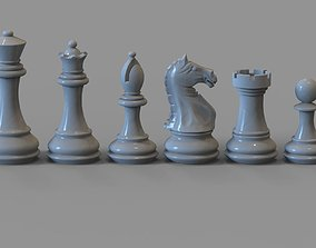 3D print model Chess set pieces