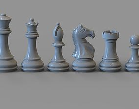Chess pieces 3D printable model