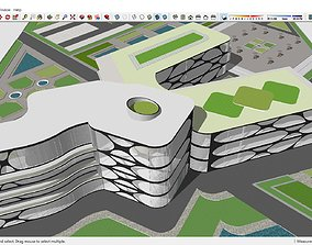3D model Hospital project - skp with dwg Includes Plans 1