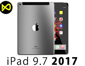 3D model Apple iPad 97 Inch 2017 Cellualar Space Grey