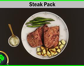 Steak Pack 3D asset