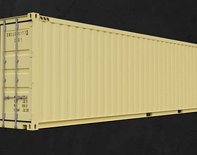 Shipping container 3d model industrial