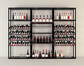 3D model low-poly Wine rack