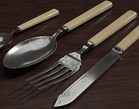 3D asset Cutlery set