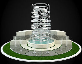 3D Fountain classicism interior
