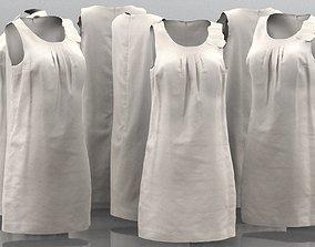 3D asset Beige Sleeveless Dress