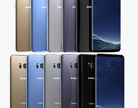 Samsung Galaxy S8 And Plus All Colors 3D