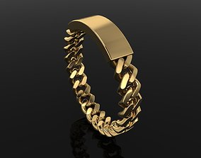3D printable model ID BAR CUBAN LINK CHAIN RING MIX 7