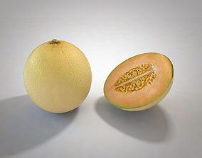 Melon 3D model low-poly