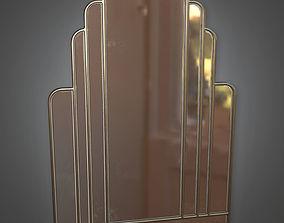3D asset Mirror Art Deco - PBR Game Ready