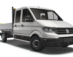 VW Crafter Double Cab Tipper 2021 3D