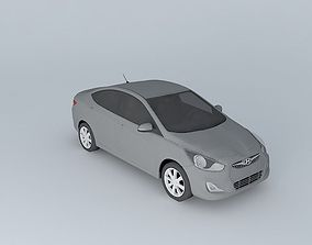 2012 Hyundai Accent - Solaris 3D model