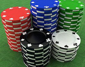 Casino Poker Chips 3D model