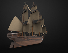 3D model Pirate Sailing ship