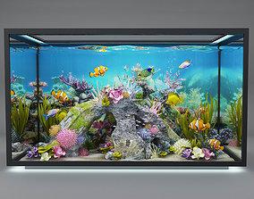 3D beautiful aquarium