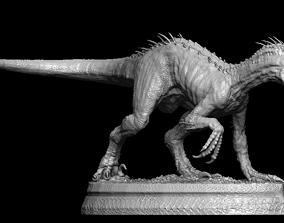 3D model Hybrid Jurassic world Indoraptor statue