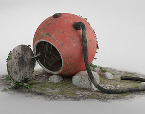 3D The abandoned rescue capsule