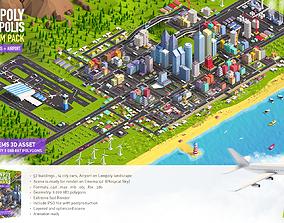 3D model Low Poly Megapolis City Premium Pack