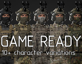 3D model US Soldier GAME READY
