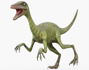 Compsognathus Rigged 3D model