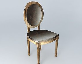 Iron chair LOUIS houses the world 3D
