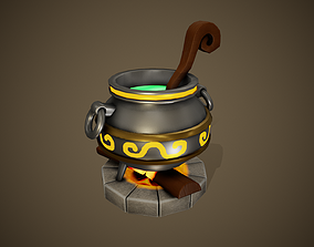 Stylized Cauldron - Tutorial Included 3D asset